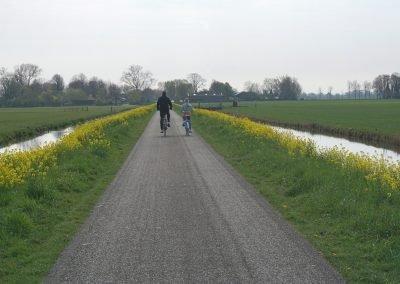 ontspannen op de fiets onderweg met knooppunten route